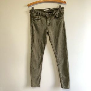 Zara Trafaluc Skinny Denim Jean Stretch Distressed